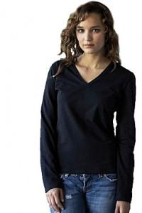 Kariban K320 Girlie Langarm-Shirt V-Neck