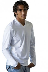 Kariban K346 Langarm-Shirt V-Neck