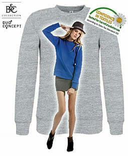 Lässiger damen-Sweater mit angesetzten Ärmeln B&C Set-In / Women