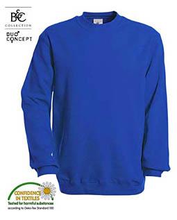 Basic-Sweater von B&C mit Set-In Schnitt