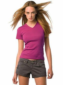 V-neck Girly Shirt B&C Watch Women