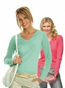 Hanes 6810 V-Neck Pullover Women