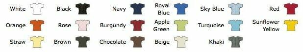 Ansicht lieferbarer Farben des Girlie-Shirts Elegance-Top-T