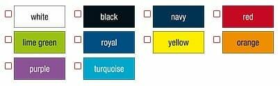 Ansicht lieferbarer Farben JN 603