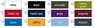 Ansicht lieferbarer Farben Jerzees 577F