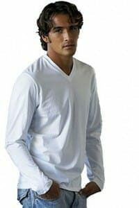 Kariban K346 Langarm-Shirt V-Neck