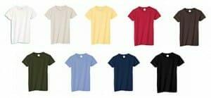 Bio-T-Shirt Anvil 420 - Farbpalette