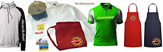 Stickbeispiele, Stickausführung, Direktstick, Stickabzeichen - GKA Textildruck & Stickerei