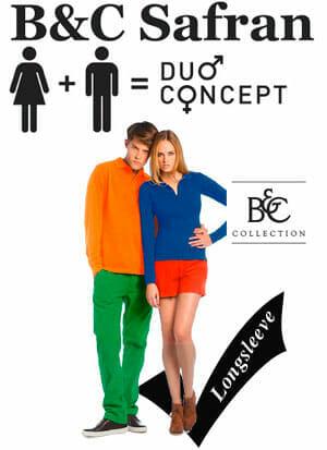 B&C-Safran-Polohemd, Duo Concept