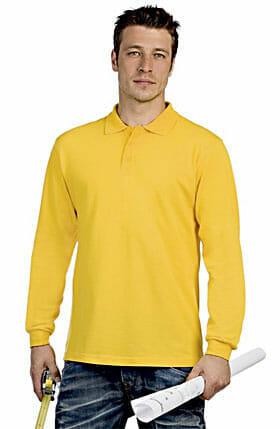 B&C-Safran-longsleeve Poloshirt
