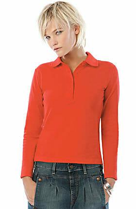 B&C-Safran-longsleeve-Ladies Polohemd für Damen