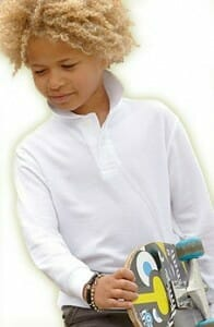 Fruit of the Loom® Kinderpoloshirt langarm