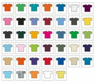 GILDAN® heavy-t - Ansicht lieferbarer Farben
