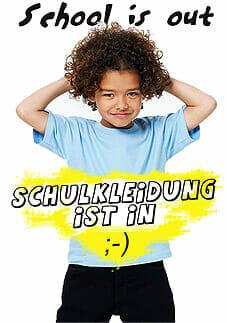 Schulkleidung bedruckt oder bestickt - Schule zum Anziehen.