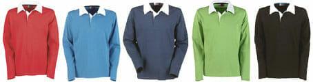 lieferbarer Farben US Basic Rugbyshirt