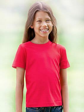 Bioshirt für Kinder Hanes® Junior Tagless Crew Neck T Organic