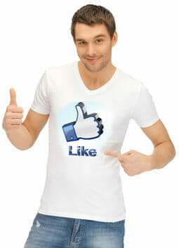 Werbung auf T-Shirts