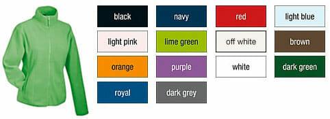 JN-49-Fleecejacke für Damen - lieferbare Farben