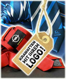 Krawatten mit Logo Druck oder Stick