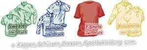 Textildruck auf T-Shirts, Polos, Hemden, Sweater und …