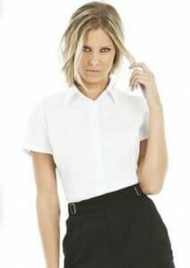 B&C Black Tie Women Kurzarm-Bluse