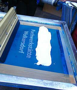 Siebdrucktechnik