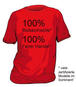 Fair gehandelte T-Shirts - wir erweitern unser Sortiment