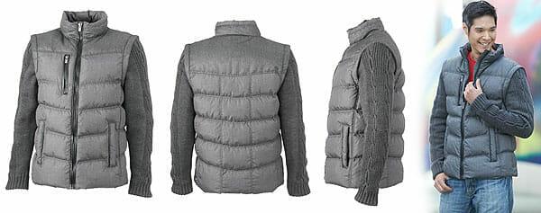 JN 1068 | Winterjacke mit abzippbaren Strickärmeln Ansichtsbilder