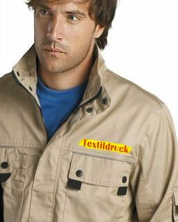 Textildruck auf Arbeitskleidung