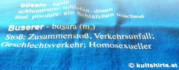 Wiener Dialekt-T-Shirts © by Kultshirts.at