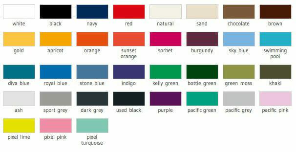 B&C 190 Farben