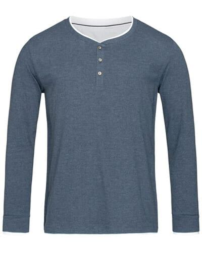 Stedman® Herren Henley T-Shirt langarm Luke