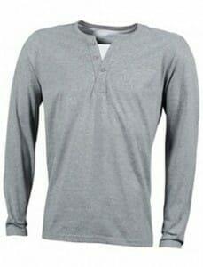 Herren Henley T-Shirt langarm JN 917