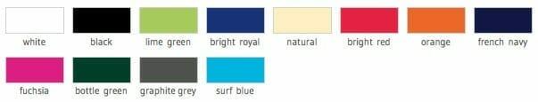 Turnbeutel Westford Farben