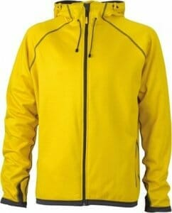 Kapuzen Fleecejacke James & Nicholson JN 571