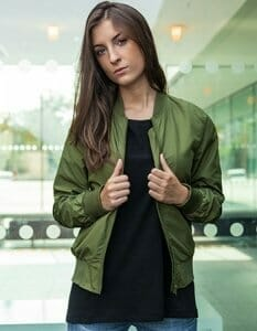 Ladies Nylon Bomber Jacket BY044