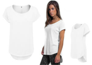 Ladies Long Slub Tee BY036