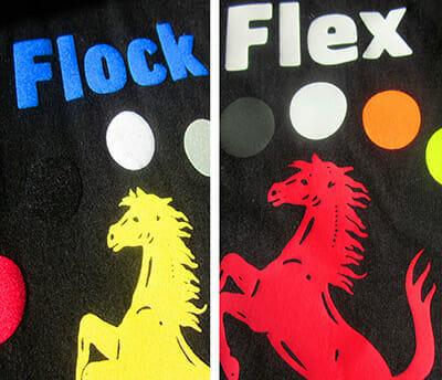 Flexdruck und Flockdruck