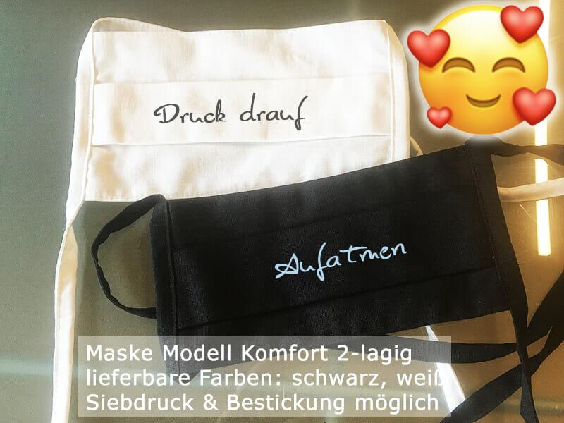"""Mund-Nasen-Schutzmasken (MNS) Modell """"Komfort"""""""