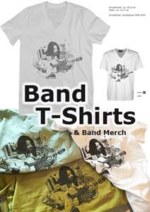 Band T-Shirts & Merch vom Druck & Stick-Profi aus Wien